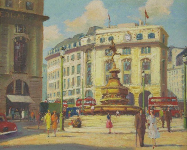 """18: MARCUS FORD (BRITISH, 1914-1989) """"Piccadilly Circus"""