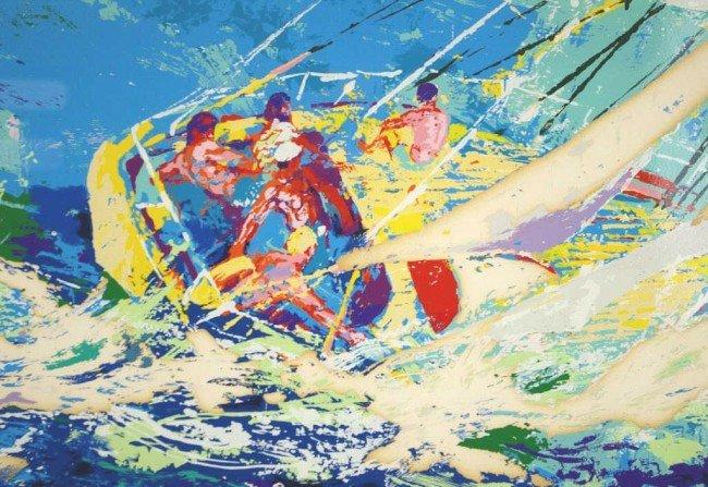 "22: LEROY NEIMAN (American, 1921-) ""Aegean Sailing"", se"
