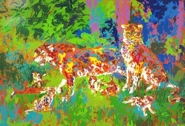 "23: LEROY NEIMAN (American, 1921-) ""Jaguar Family"", ser"