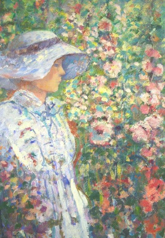 "24: DONALD PURDY (American, 1924-) ""Girl Amongst Flower"