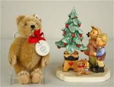 313: HUMMEL FIGURINE AND STEIFF BEAR SET #2015 limited
