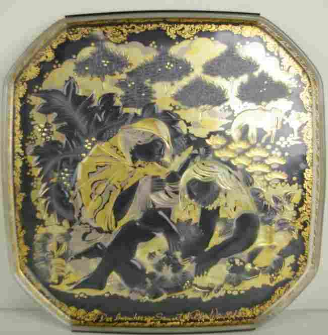 336: BJORN WINBLAD FOR ROSENTHAL CRYSTAL RELIEF PLAQUE