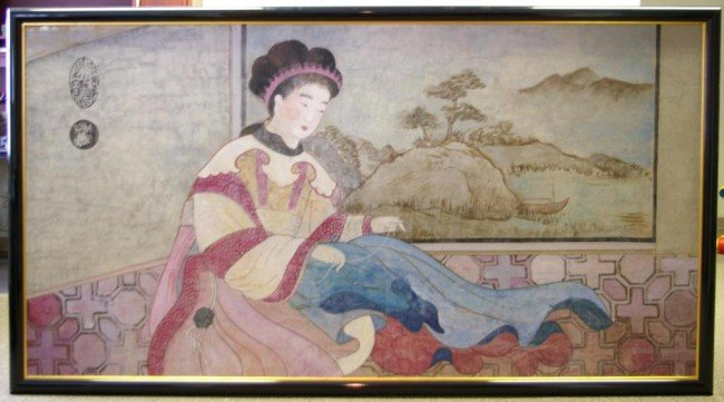 15: LARGE SIZE PAINTING OF A CHINESE BEAUTY watercolor