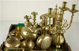 322 20 PIECE FAR EASTERN BRASS GROUP includes candleh