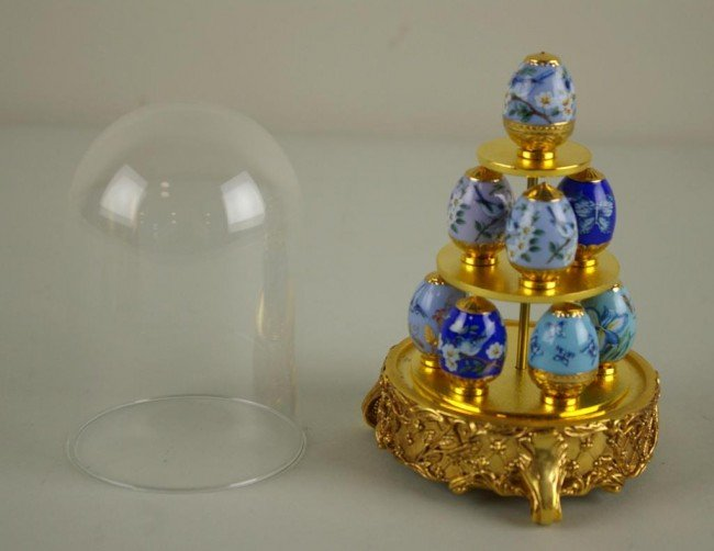 351: FABERGE FOR FRANKLIN MINT, SAPPHIRE GARDEN include