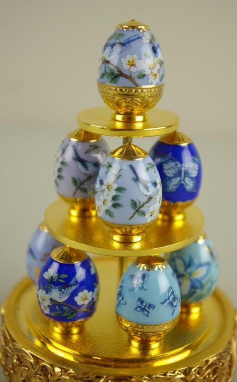 351: FABERGE FOR FRANKLIN MINT, SAPPHIRE GARDEN include - 2