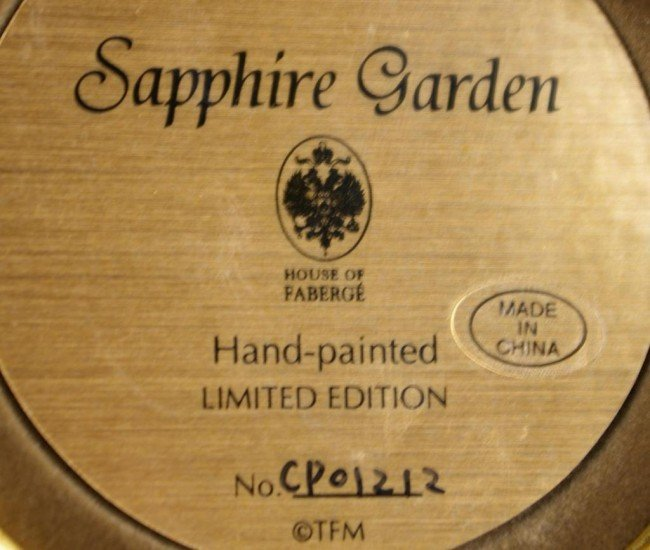 351: FABERGE FOR FRANKLIN MINT, SAPPHIRE GARDEN include - 3