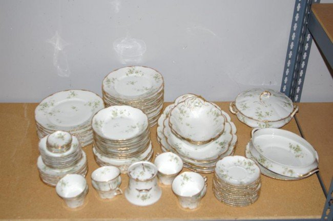 91-PIECE THEODORE HAVILAND LIMOGES CHINA SERVICE