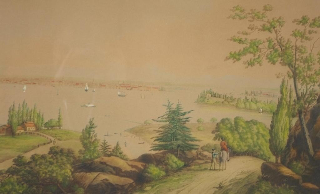 5: TINTED ETCHING, NEW YORK VIEW FROM WEEHAWKEN