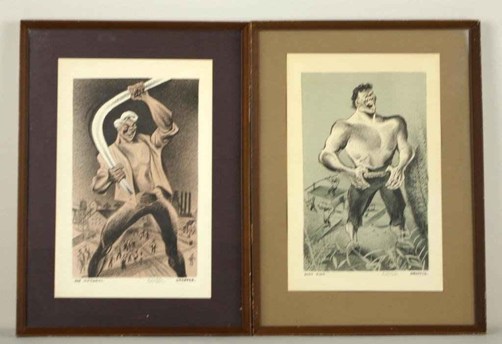 8: TWO LITHOGRAPHS BY WILLIAM GROPPER