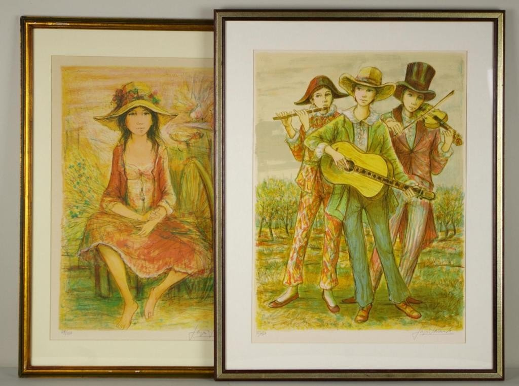 14: TWO LITHOGRAPHS BY JACQUES LALANDE