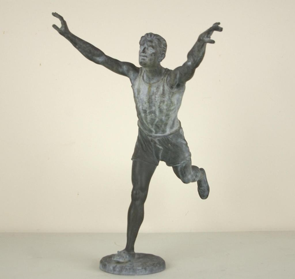 18: AFTER EMILE CARLIER - ATHLETE IN WHITE METAL