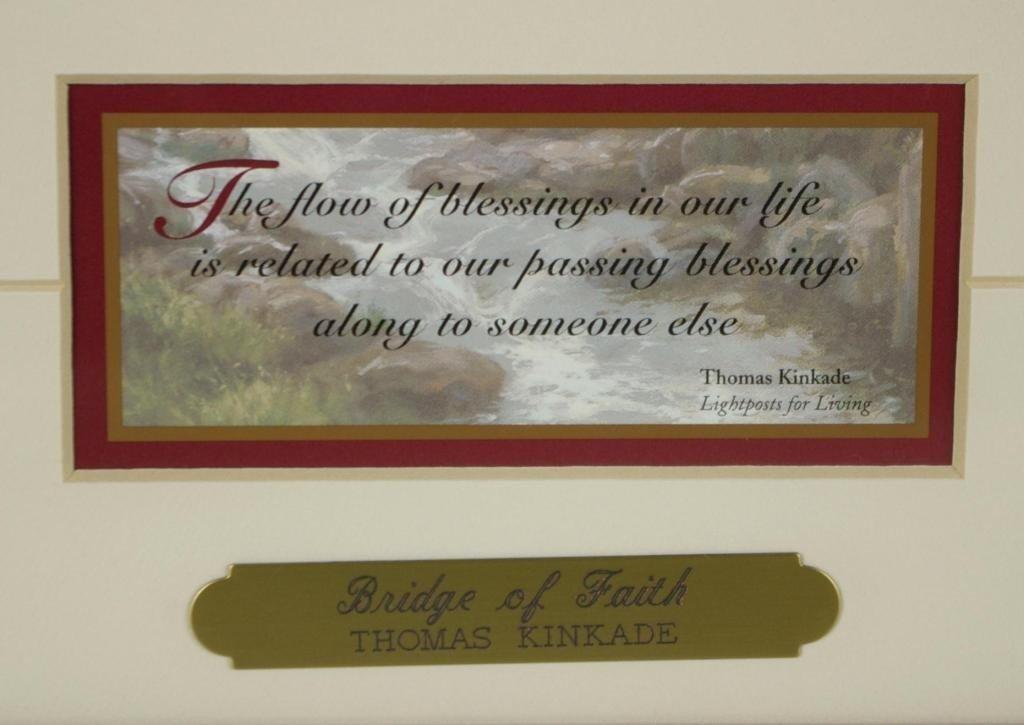 197: THOMAS KINKADE BRIDGE OF FAITH OFFSET PRINT - 3