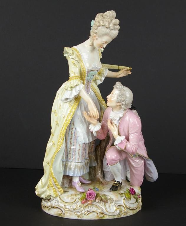237: MEISSEN FIGURAL GROUP OF A COURTING COUPLE