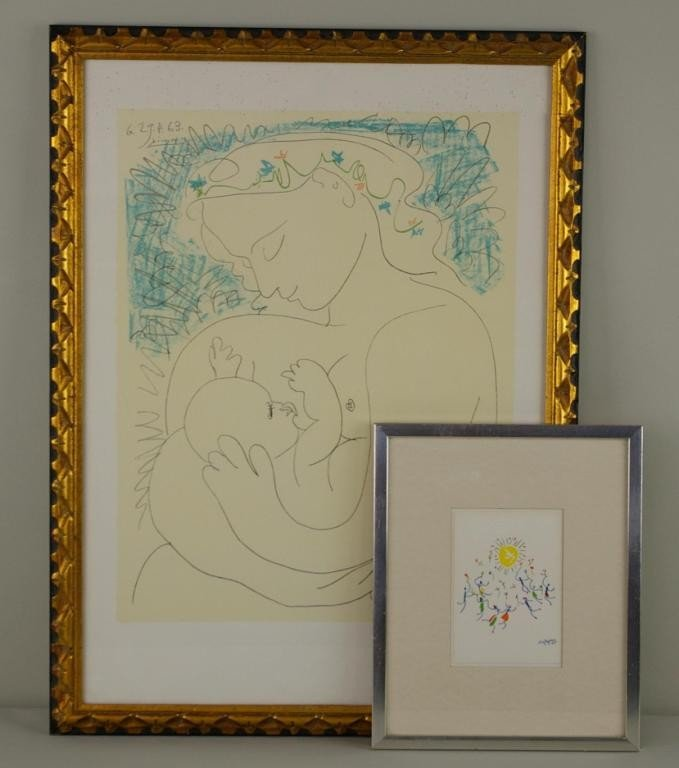 22: TWO COLOR LITHOGRAPHS AFTER PICASSO