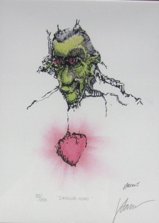 56: JERRY GARCIA SIGNED OFFSET COLOR LITHOGRAPH