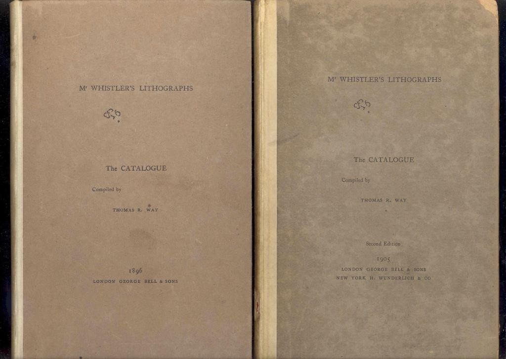 13: MR. WHISTLER'S LITHOGRAPHS BY WAY, 2 SIGNED COPIES