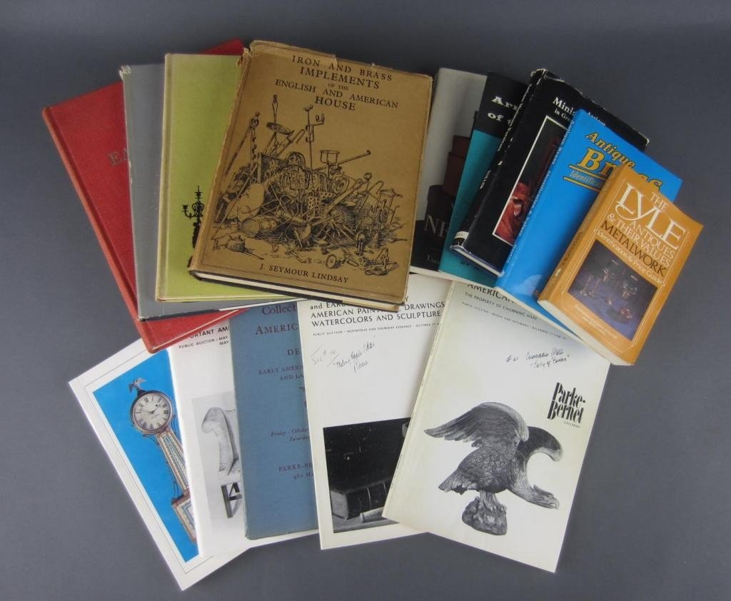 23: NINE ANTIQUE REFERENCE BOOKS