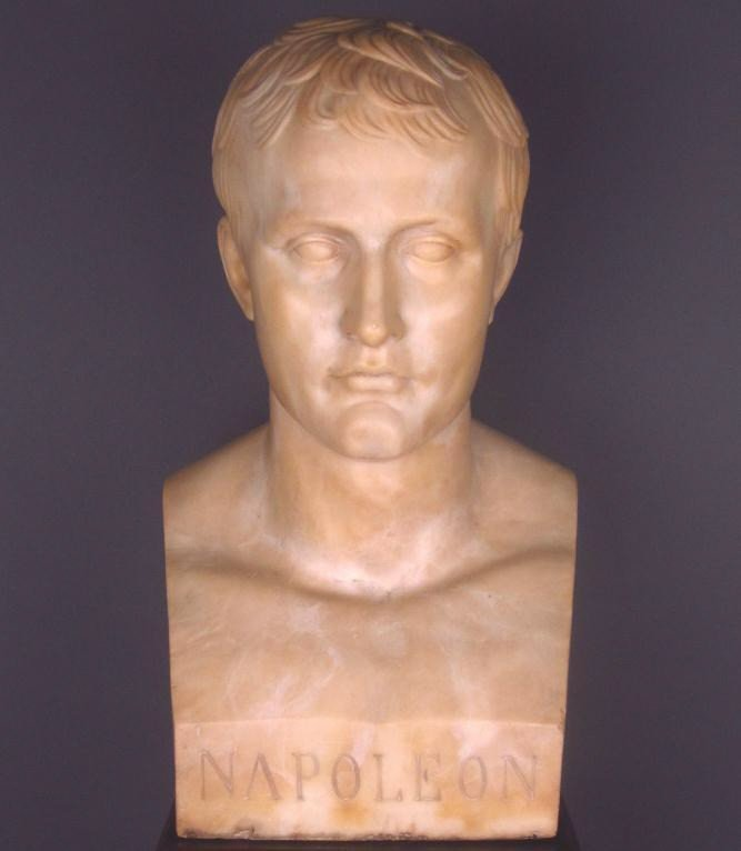 51: MARBLE BUST OF EMPEROR NAPOLEON SIGNED CANOVA