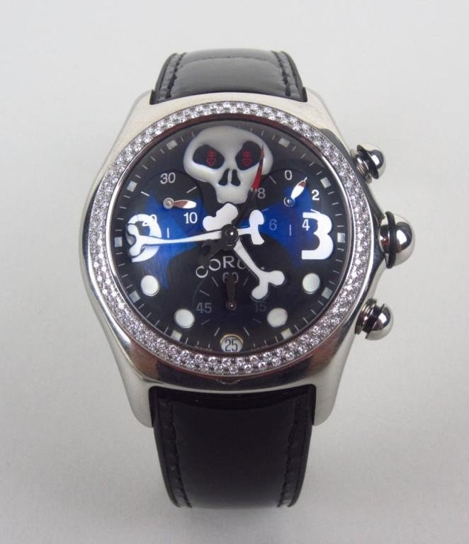 182: RARE CORUM BUBBLE XL JOLLY ROGER CHRONOGRAPH