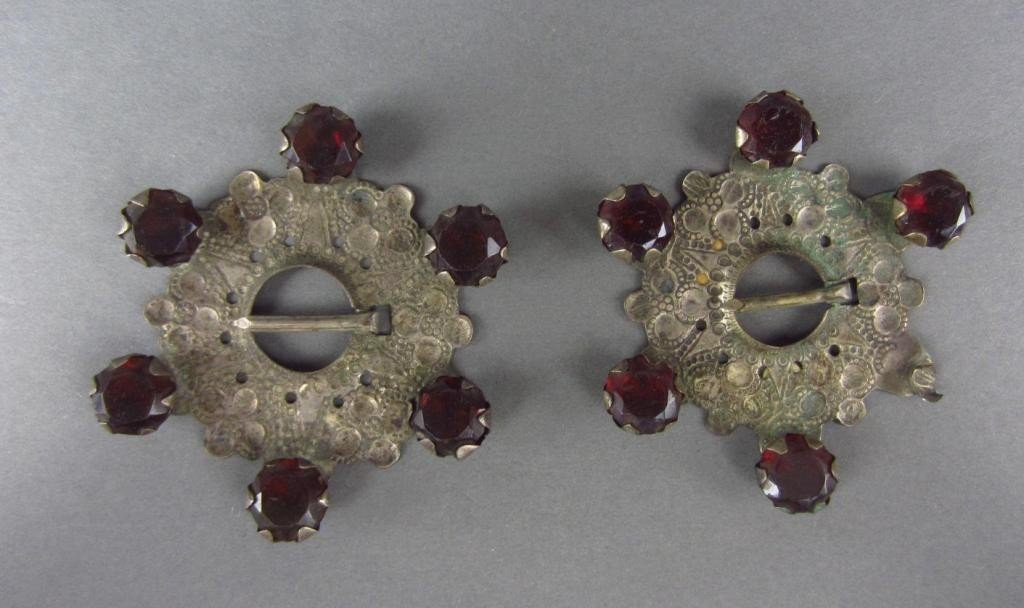 12: PAIR OF BUCKLES, RUSSIA 1760
