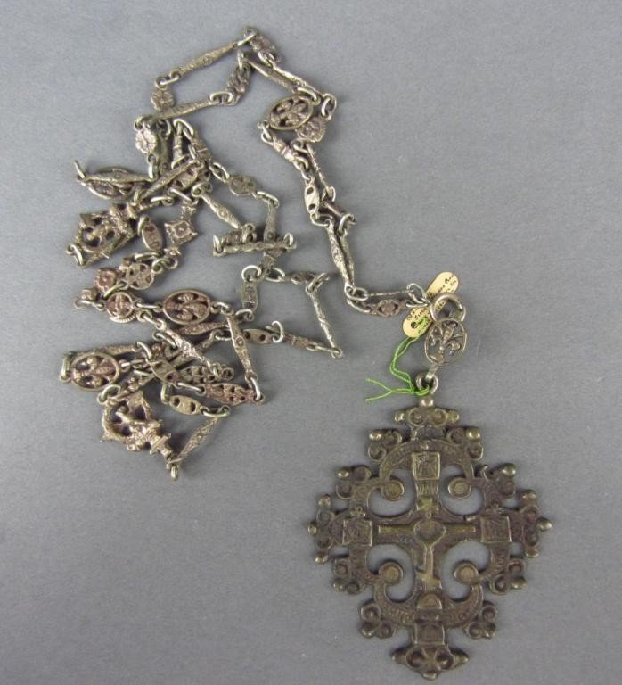 16: GREEK ORTHODOX CROSS AND CHAIN