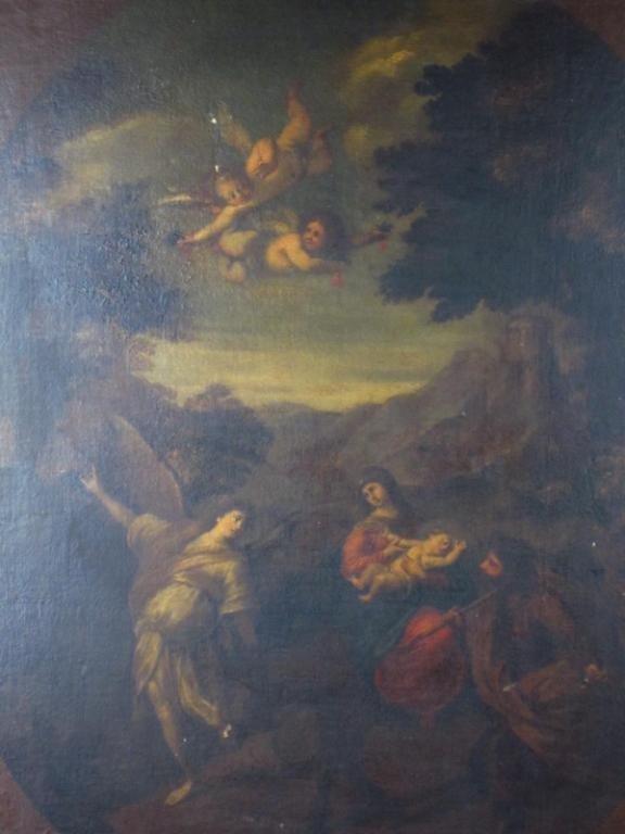 54: ITALIAN SCHOOL PAINTING OF THE HOLY FAMILY