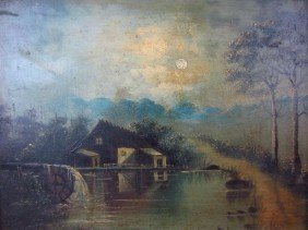 VICTORIAN OIL ON PANEL PAINTING