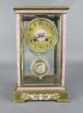 10: TIFFANY FRENCH BRONZE CRYSTAL REGULATOR CLOCK