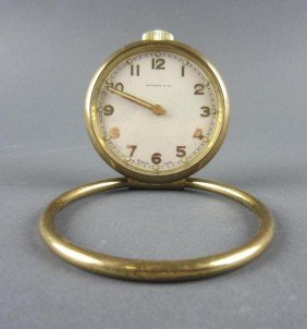 TIFFANY & CO. BRASS CASE TRAVEL CLOCK