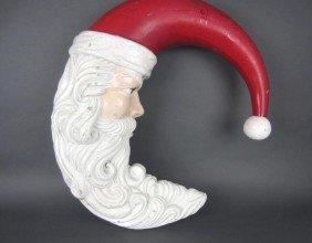 21: LARGE HALF-MOON SANTA CHRISTMAS DECORATION
