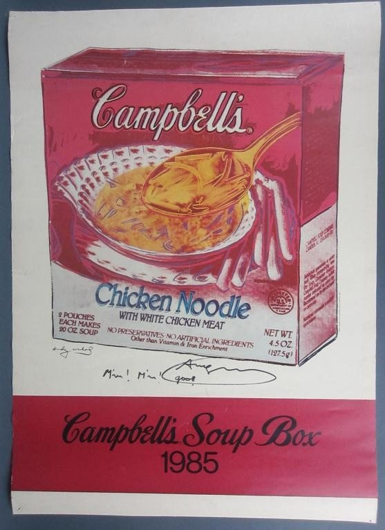 28: ANDY WARHOL SIGNED OFFSET LITHOGRAPH