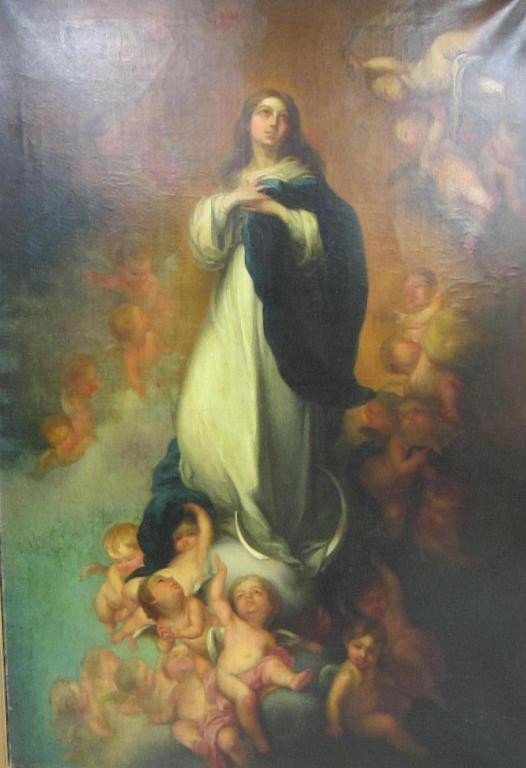 2: 19TH CENTURY RELIGIOUS PAINTING OF LARGE SIZE