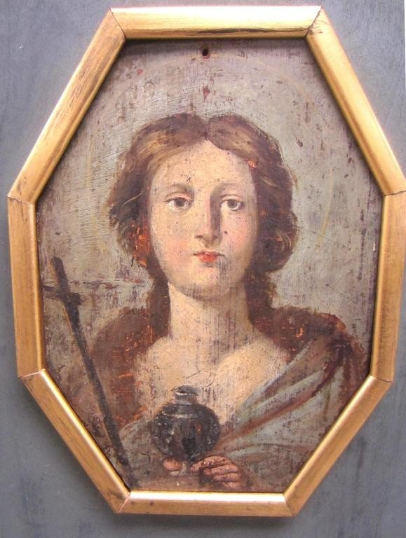 8: SMALL ANTIQUE BUST PORTRAIT OF A WOMAN