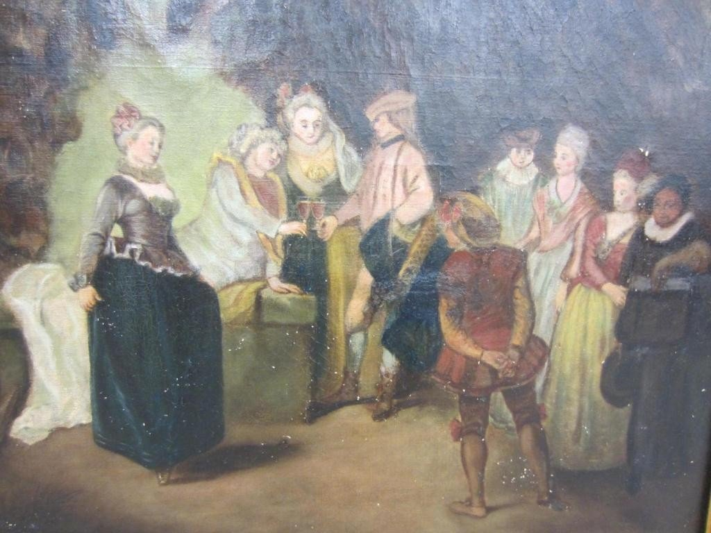 12: REGAL FIGURES IN A GARDEN, 19TH CENTURY