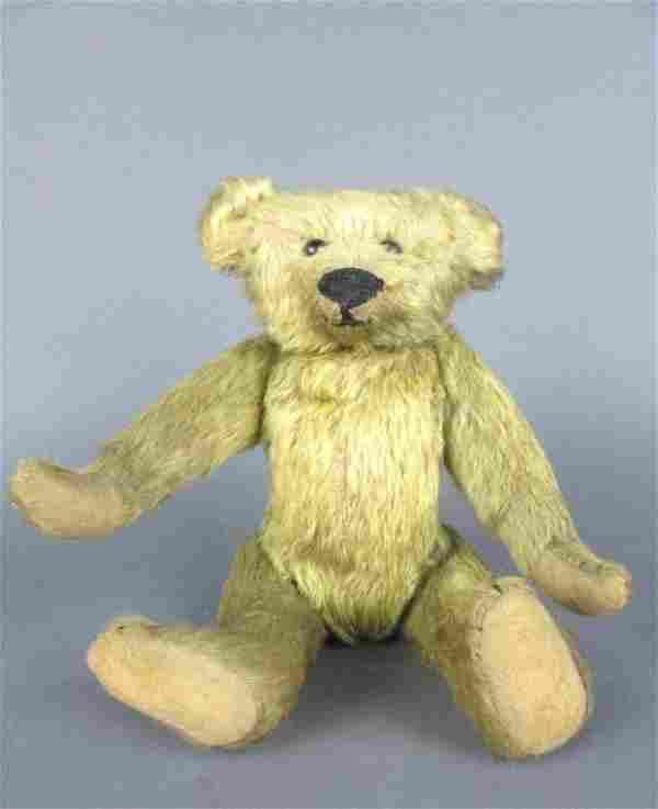 EARLY BLONDE MOHAIR TEDDY BEAR, LIKELY STEIFF