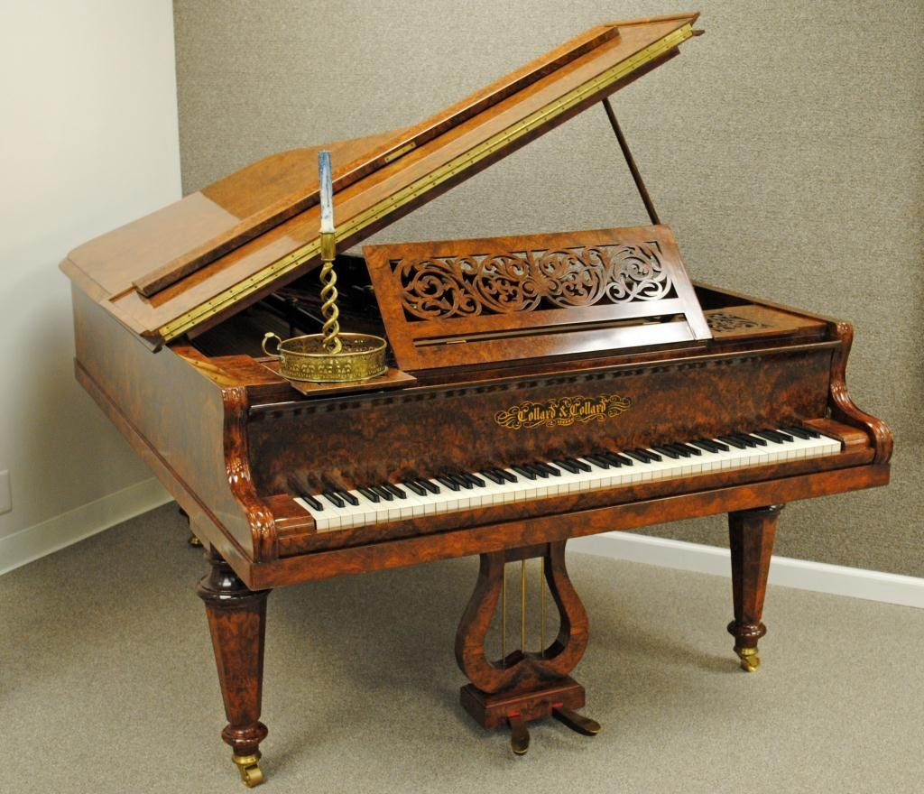 1: COLLARD & COLLARD BURL ROSEWOOD GRAND PIANO