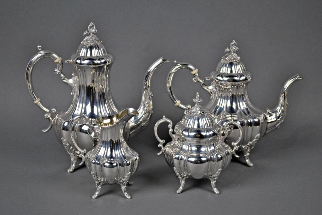 12: REED & BARTON STERLING COFFEE & TEA SET