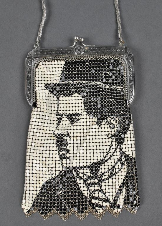 42: WHITING & DAVIS CHARLIE CHAPLIN MESH BAG