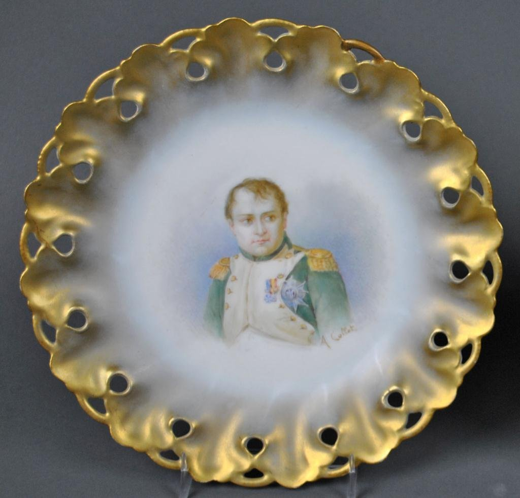 47: SET OF 11 LIMOGES PLATES SIGNED A. COLLOT