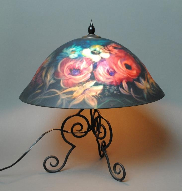 63: ULLA DARNI TABLE LAMP WITH REVERSE-PAINTED SHADE