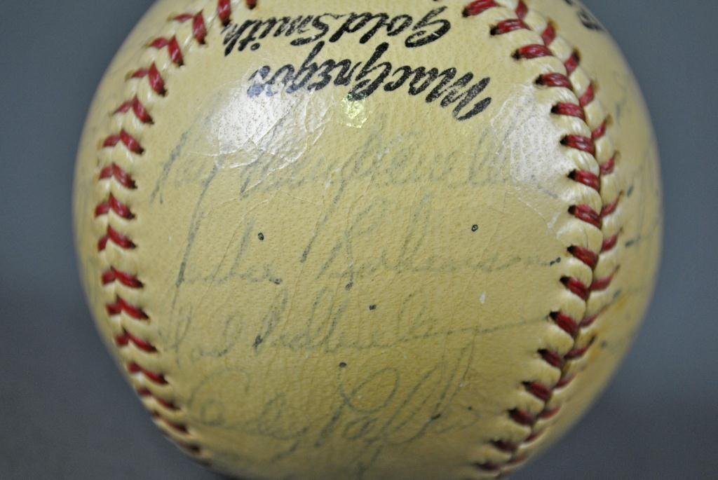 68: SIGNED 1952 BROOKLYN DODGERS BALL INCL J ROBINSON