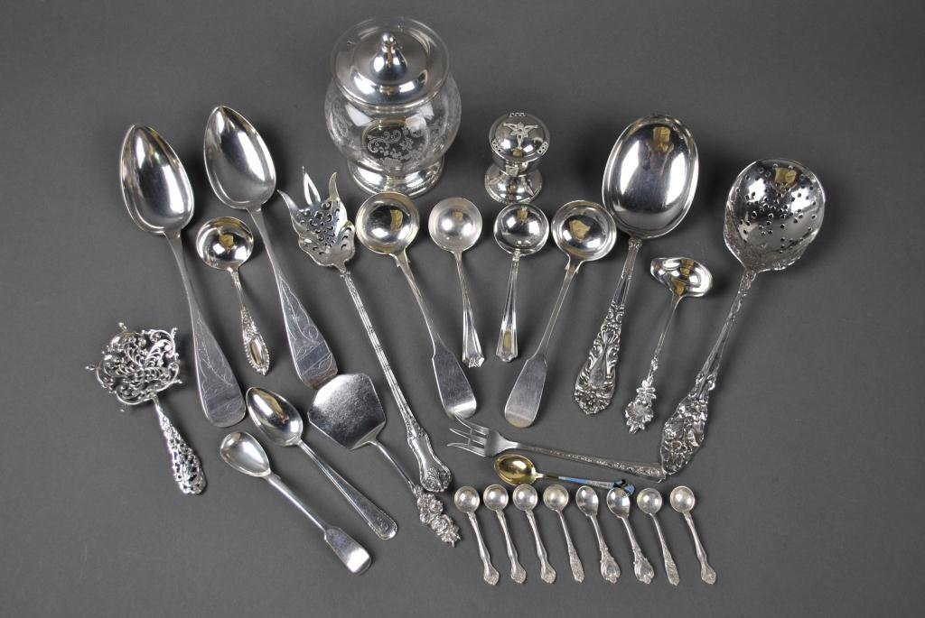 90: 27-PIECE ASSORTED SILVER GROUP