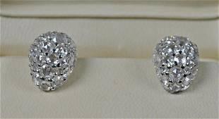 51: JOHN HARDY BUDDHA BELLY DIAMOND EARRINGS, 8.64CTW