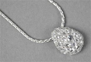 52: JOHN HARDY TEARDROP DIAMOND PENDANT, 5.81CTW