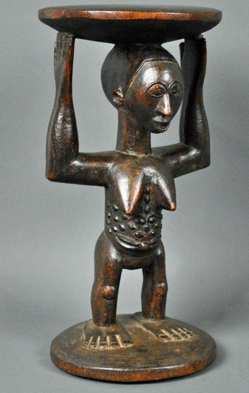 1: CARYATID LUBA STOOL - DEMOCRATIC REPUBLIC OF CONGO