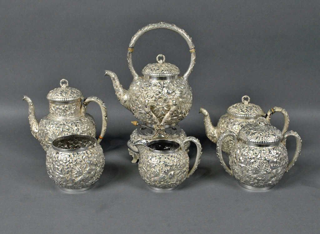 6: 6-PIECE VANSANT STERLING TEA SERVICE