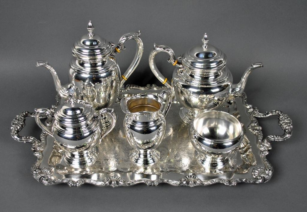 12: 5-PIECE INTERNATIONAL STERLING COFFEE & TEA SET