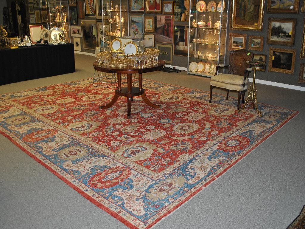 23: TURKISH KENTWILLY CARPET OF LARGE SIZE, 17 X 13.8