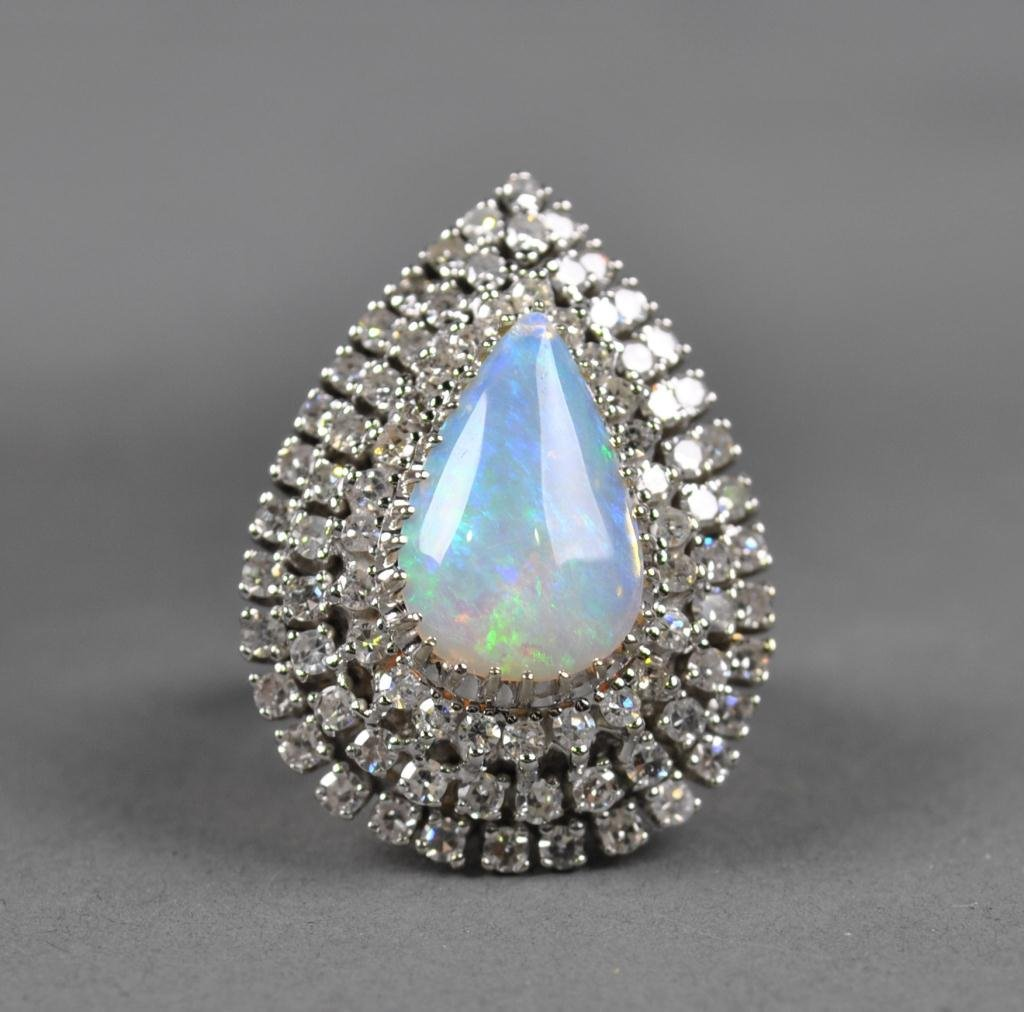 23: OPAL AND DIAMOND COCKTAIL RING